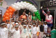 Angeles Playway school located In Manimajra todaycelebrated Independence Day