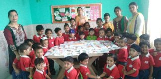 Students of Genius World Play School sent Rakies to Indian Soldiers