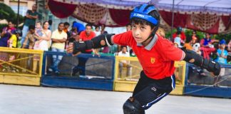 Roller Skating Championship started today at Dikshant Global School