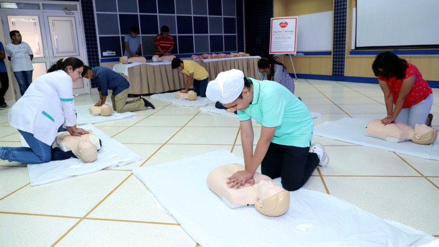 """Kids learn Life Support Skills at Fortis """"Hands on Heart Club"""" Workshop"""