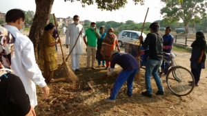 BJP carries out cleanliness drive on Gandhi Jayanti