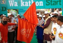 Sanjay Tandon flags off Walkthon for saving water, Clinliness & pollution free environment