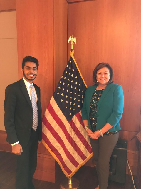 Mohali based TAC Security CEO Trishneet Arora calls on Governor Susana Martinez