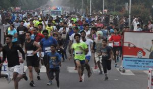 Promo run held as a prelude to 1st Int'l Chandigarh Marathon