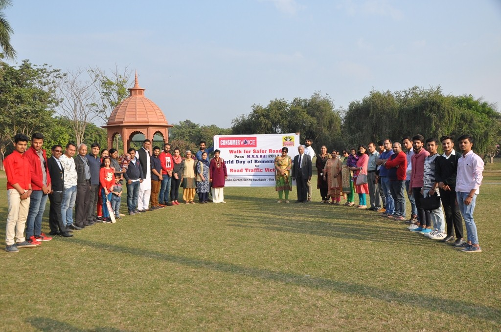 'Walk for Safer Roads' on World Day of Remembrance for road accident victims held in Panchkula