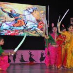 """""""Students of Dikshant International School, participating in the School's Annual Day celebration 'Navras'."""""""