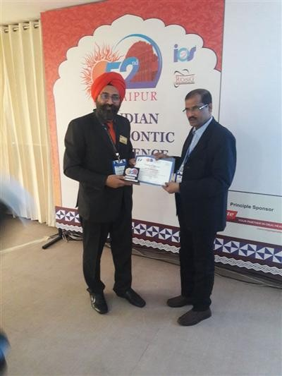 Dr Sarabjeet Singh a leading Orthodontist of the region today while delivering a Guest lecture as a speaker at the 52nd IOS Conference Jaipur