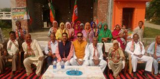 Sanjay Tandon addresses public meetings in support OF BJP candidate from Kutlahda