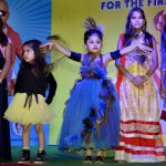 Children put up an impressive ramp show