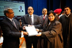 The First Convocation of the Bar Council of Punjab and Haryana year 2018 to distribute the Enrolment Certificate to the new entrants was organized in the auditorium of Law Bhawan, Chandigarh.