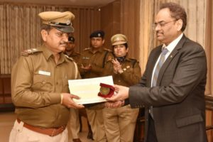 An award function was held at GO's Mess, Police Lines, Sector 26, Chandigarh