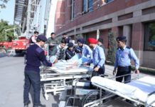 Mock Fire Safety Drill conducted at Fortis Mohali