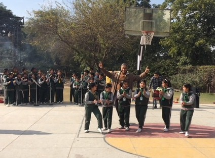 The students of Sri Aurobindo School were taken in by air of festivity during Lohri celebration
