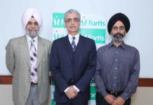UK based shoulder surgery consultant, Dr. Vinod Kathuria to visit Fortis Hospital Mohali every month to redress patients with shoulder problems