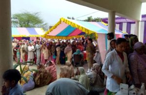 423 attend free multispecialty health camp at Bhikhiwind