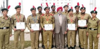 NCC cadets of GJIMT Excelled in volleyball tournament,won by 5-7 goal