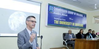 Chandigarh Group of Colleges, Jhanjeri organized a seminar at its campus. Key note speaker at the moment was  Garry Miller, Associate Dean and Elle Freestone, International Manager of Auckland University, New Zealand.