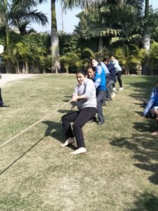 "The Annual Tug of War event was held at Brilliance World School, Sec 12, Panchkula.  ""The event was a great attraction for students from VI to XII as it boosted the team spirit and the spirit of unity."