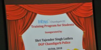 A community policing initiative by Chandigarh Police for 'Youth Skill Development' at Infosys