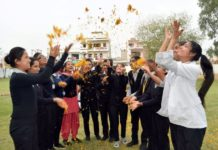 RGI celebrated Holi with Flowers instead of synthetic colours