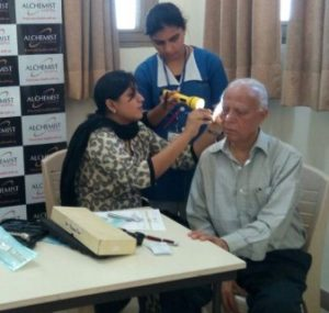 As many as 50 senior citizens attended an ENT check-up camp here today. The camp which was followed by a health talk, was organized by Alchemist Hospital with the collaboration of Senior Citizen Association, Panchkul