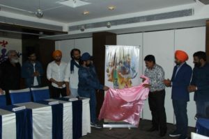 "Poster of  upcoming Punjabi Flick ""Kande"" released in the presence of Film's team"