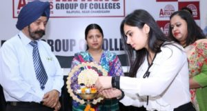 A seminar on Anti- Drug awareness was organized by Aryans Group of Colleges, Chandigarh at its campus. Dr. Ashitya Mariya, Drug Safety Physician and Dr. Ria Chabra, Drug Safety Physician from Parexel International were the guests & speakers on the occasion. Students of LL.B, BA-LL.B, MBA, BBA, BCA etc participated in the seminar.