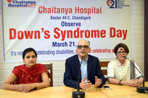 Free detection test for needy people in Chaitanya Hospital for coming two weeks on World Down Syndrome Day