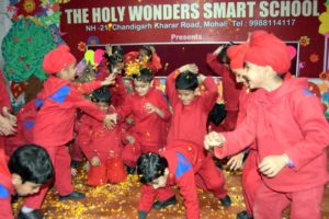 Students of The Holy Wonder Smart School Celebrated Holi with Traditional Fervour