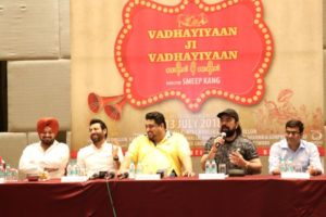 """""""Vadhayiyaan ji Vadhayiyaan"""" which is going to be made under the banner of A&A Advisors and Binnu Dhillon's Home Production, Naughty Men Productions"""