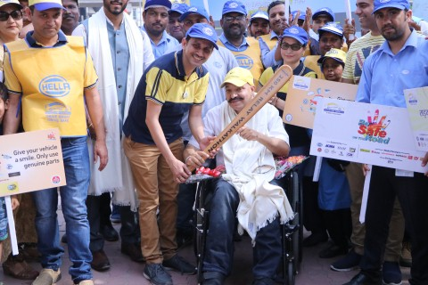 250 KM Walkathon marks road safety week at Zirakpur