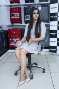 Samaira Sandhu visited DELSEY LUGGAGE on the eve of BAISAKHI Festive