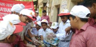 Cleanliness drive launched by students of Maharishi Dayanand School