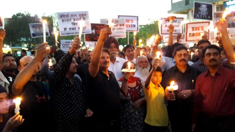 Tricity Churches take out candle march for the girl child