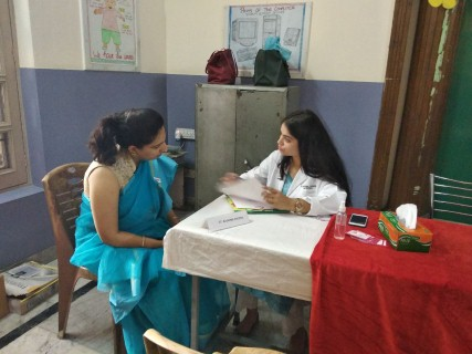 Gynae Camp for mothers and teachers at Shemrock Foundation School