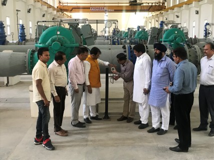 Mayor & councillors takes stock of Jandpur pipeline project
