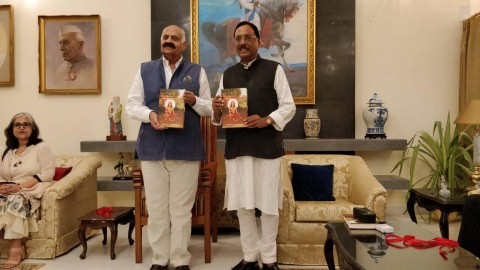 Governor V.P Singh Badnore launches Pavan K. Varma's book