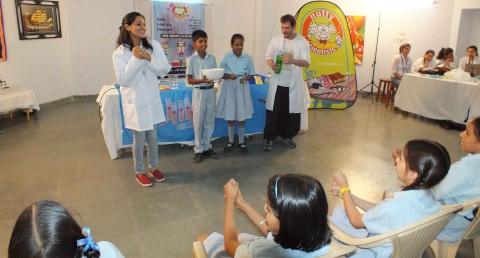 Workshop on Learning Science with fun held in Ankur School