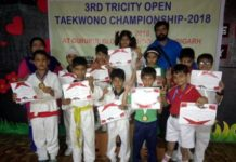 Students of The Holy Wonder Smart School excelled in 3rd Tricity Taekwondo Championship