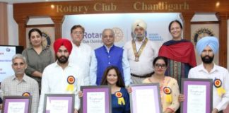 Rotary Chandigarh honours 5 with Vocational awards