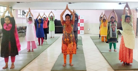 Gian Jyoti organised Yoga camp to mark the International Yoga Day
