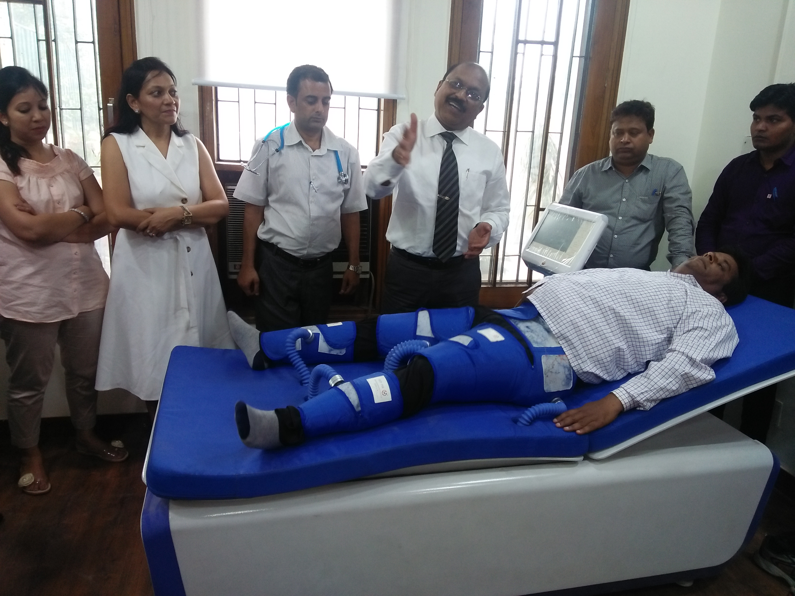 Dr. Bimal Chajjer Reached  Saaol Heart Center On Wednesday