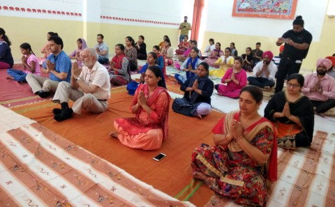 Yoga and Meditation camp organised at Indo Global