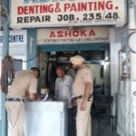 Checking of car dealers, workshops, mechanics, denting painting shops in the City in view of forthcoming Independence Day