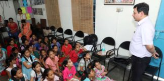 Health Talk for Rehabilitation Colony Children held at Bapu Dham
