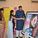 Sanjay Tandon inaugurates maiden Art Exhibition by Class 12 student Angel Dsouza