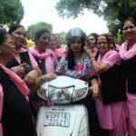 200 Helmets distributed; women appealed to wear them for their own safety
