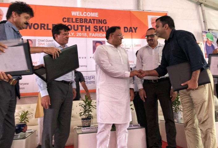 MoU signed at the launch of 'Saksham Saarthi'
