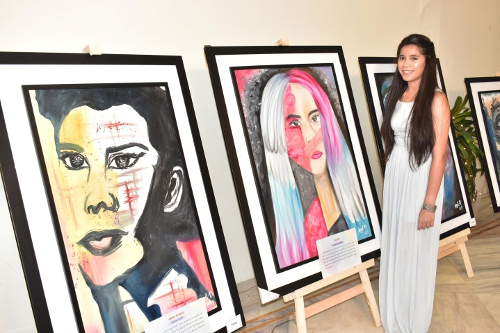 Class 12 student showcases her first solo art exhibition - 'Soulful Strokes'