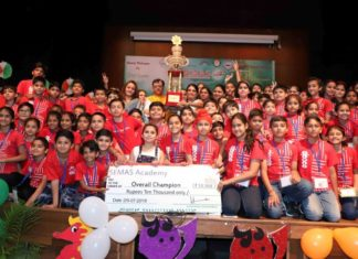 Over700students from across North India appear for abacus competition